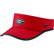 Nike Men's Georgia Bulldogs Red Aerobill Featherlight Visor