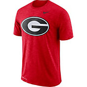Nike Men's Georgia Bulldogs Red Dri-FIT Football Sideline Slub T-Shirt