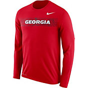 Nike Men's Georgia Bulldogs Red Dri-FIT Legend Long Sleeve Sideline T-Shirt