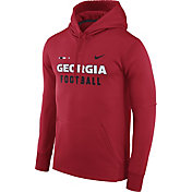 Nike Men's Georgia Bulldogs Red Football Sideline Therma-FIT Hoodie
