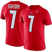 Nike Men's Georgia Bulldogs Matthew Stafford #7 Red Future Star Replica Football Jersey T-Shirt