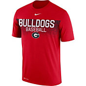 Nike Men's Georgia Bulldogs Red Dri-Fit Team Issue Performance Baseball T-Shirt