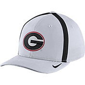 Nike Men's Georgia Bulldogs White Aerobill Swoosh Flex Classic99 Football Sideline Hat