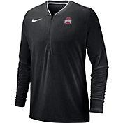 Nike Men's Ohio State Buckeyes Coach Half-Zip Football Sideline Black Jacket