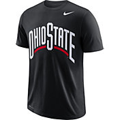 Nike Men's Ohio State Buckeyes Wordmark Black T-Shirt