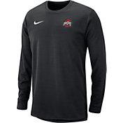 Nike Men's Ohio State Buckeyes Modern Football Sideline Crew Black Long Sleeve Shirt