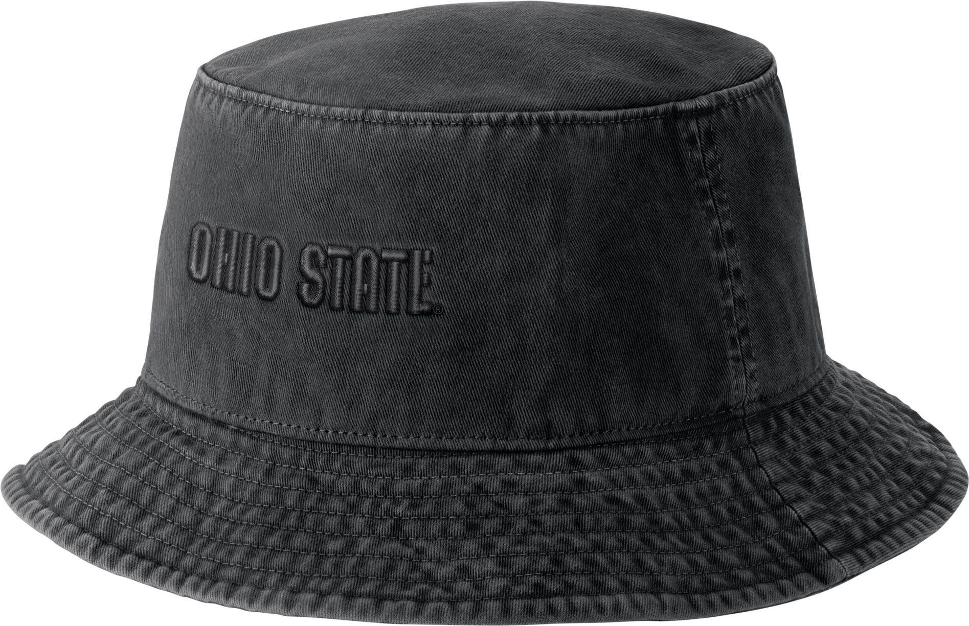 4f47624510a5f ... shop nike mens ohio state buckeyes black bucket hat d5364 3ddef