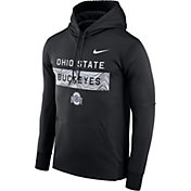 Nike Men's Ohio State Buckeyes Therma-FIT Pullover Sideline Black Hoodie