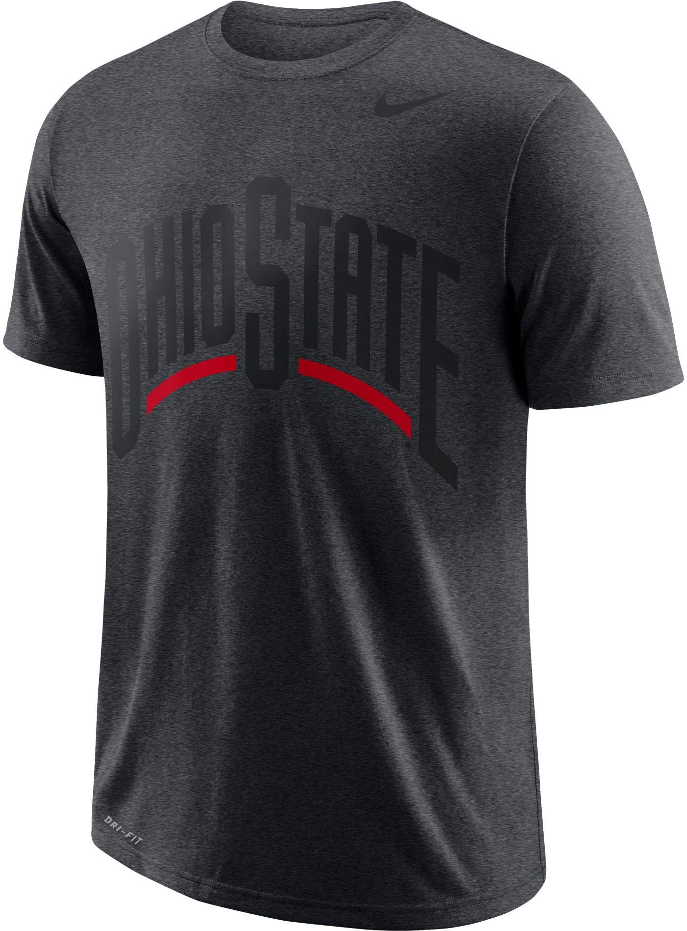 Nike Men's Ohio State Buckeyes Gray Wordmark T-Shirt