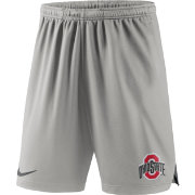 Nike Men's Ohio State Buckeyes Gray Knit Football Performance Shorts