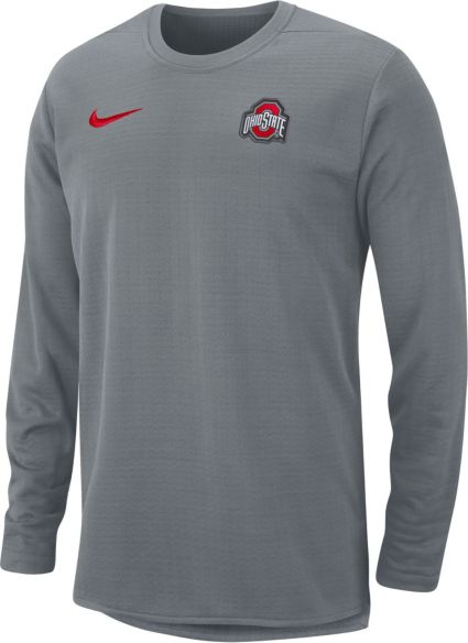 Nike Men s Ohio State Buckeyes Gray Modern Football Sideline Crew Long  Sleeve Shirt. noImageFound fa1cbc307