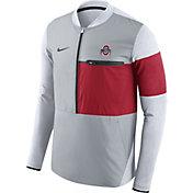 Nike Men's Ohio State Buckeyes Gray/Scarlet Shield Hybrid Football Sideline Jacket