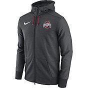 Nike Men's Ohio State Buckeyes Heathered Gray Football Travel Full-Zip Hoodie