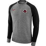Nike Men's Ohio State Buckeyes Gray/Black AW77 Pullover Crew Sweatshirt