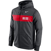 Nike Men's Ohio State Buckeyes Anthracite Therma-FIT Full-Zip Sideline Hoodie
