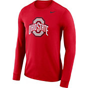 Nike Men's Ohio State Buckeyes Scarlet Dri-FIT Logo Long Sleeve Shirt