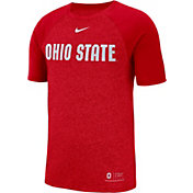Nike Men's Ohio State Buckeyes Scarlet Raglan Sideline T-Shirt