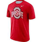 Nike Men's Ohio State Buckeyes Scarlet Dri-FIT Football Sideline Slub T-Shirt