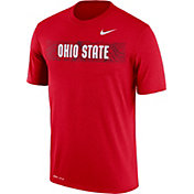 Nike Men's Ohio State Buckeyes Scarlet Football Sideline Legend T-Shirt