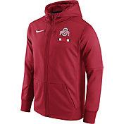 Nike Men's Ohio State Buckeyes Scarlet Therma-FIT Full-Zip Football Hoodie