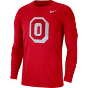 Nike Men's Ohio State Buckeyes Heathered Scarlet Vault Tri-Blend Long Sleeve Tee