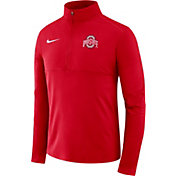 Nike Men's Ohio State Buckeyes Scarlet Core Half-Zip Shirt