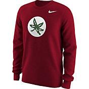 Nike Men's Ohio State Buckeyes Red Alt Logo Football Long Sleeve Shirt