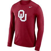 Nike Men's Oklahoma Sooners Crimson Dri-FIT Logo Long Sleeve Shirt