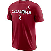 Jordan Men's Oklahoma Sooners Crimson Football Dri-FIT Facility T-Shirt