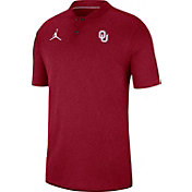 Jordan Men's Oklahoma Sooners Crimson Elite Football Sideline Polo