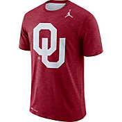 Jordan Men's Oklahoma Sooners Crimson Dri-FIT Football Sideline Slub T-Shirt