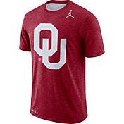 Jordan Men's Oklahoma Sooners Crimson Dri-FIT Football Sideline Slub T-Shirt