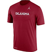 Jordan Men's Oklahoma Sooners Crimson Football Sideline Legend T-Shirt