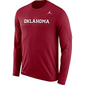 Jordan Men's Oklahoma Sooners Crimson Dri-FIT Legend Long Sleeve Sideline Tee