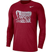 Nike Men's Oklahoma Sooners Heathered Crimson Vault Tri-Blend Long Sleeve Tee