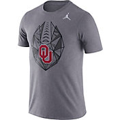 Jordan Men's Oklahoma Sooners Grey Dri-FIT Football Icon T-Shirt
