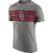 Nike Men's Oklahoma Sooners Grey Logo Basketball T-Shirt