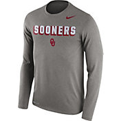 Nike Men's Oklahoma Sooners Grey Dri-FIT Franchise Long Sleeve T-Shirt