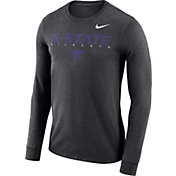 Nike Men's Kansas State Wildcats Grey Football Dri-FIT Facility Long Sleeve T-Shirt