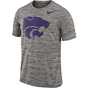 Nike Men's Kansas State Wildcats Charcoal Football Dri-FIT Travel T-Shirt
