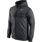 Nike Men's Kansas State Wildcats Anthracite Therma-FIT Full-Zip Sideline Hoodie