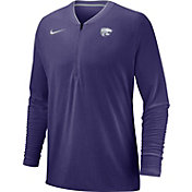 Nike Men's Kansas State Wildcats Purple Coach Half-Zip Football Sideline Jacket