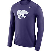 Nike Men's Kansas State Wildcats Purple Dri-FIT Logo Long Sleeve Shirt