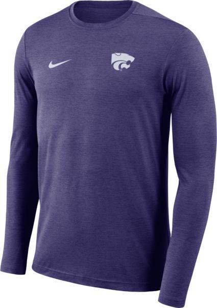 Nike Men s Kansas State Wildcats Purple Football Dri-FIT Coach Long ... 7df55a902f06
