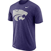 Nike Men's Kansas State Wildcats Purple Dri-FIT Football Sideline Slub T-Shirt