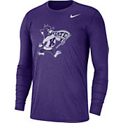 Nike Men's Kansas State Wildcats Heathered Purple Vault Tri-Blend Long Sleeve Tee