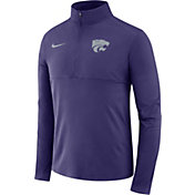 Nike Men's Kansas State Wildcats Purple Core Half-Zip Shirt