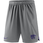 Nike Men's Kansas State Wildcats Silver Knit Football Performance Shorts