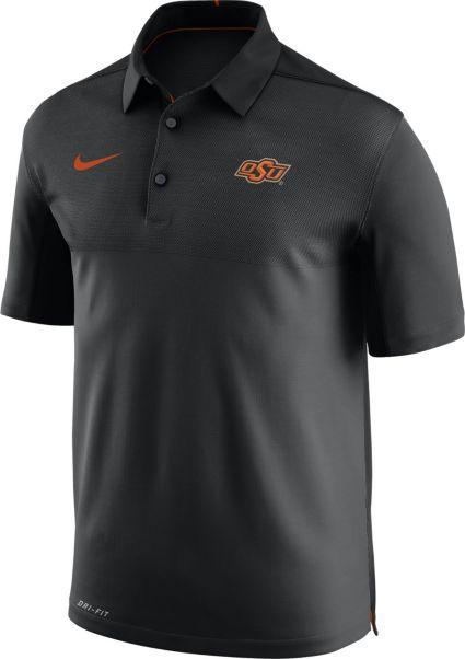 Nike Men's Oklahoma State Cowboys Elite Football Sideline Black Polo