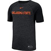 Nike Men's Oklahoma State Cowboys Raglan Sideline Black T-Shirt